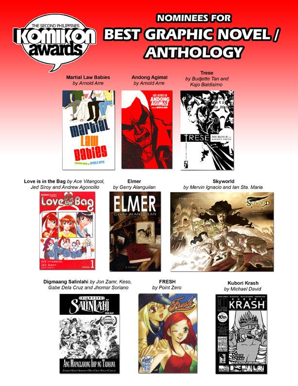BEST COMIC: Graphic Novel / Anthology Nominees