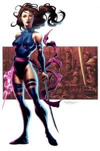 Psylocke Colored by Harvey Tolibao