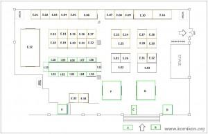 Komikon 2010 Floorplan