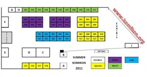 Summer Komikon 2011 Floorplan
