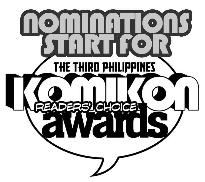 Start of Nominations for 3rd Komikon Awards logo