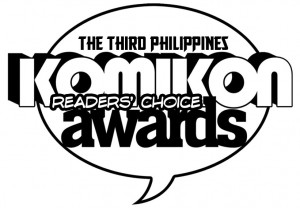 The Third Philippines Komikon Readers' Choice Awards logo