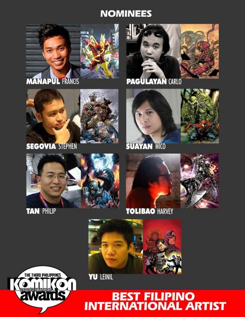 2011 BEST FILIPINO INTERNATIONAL ARTIST Nominees