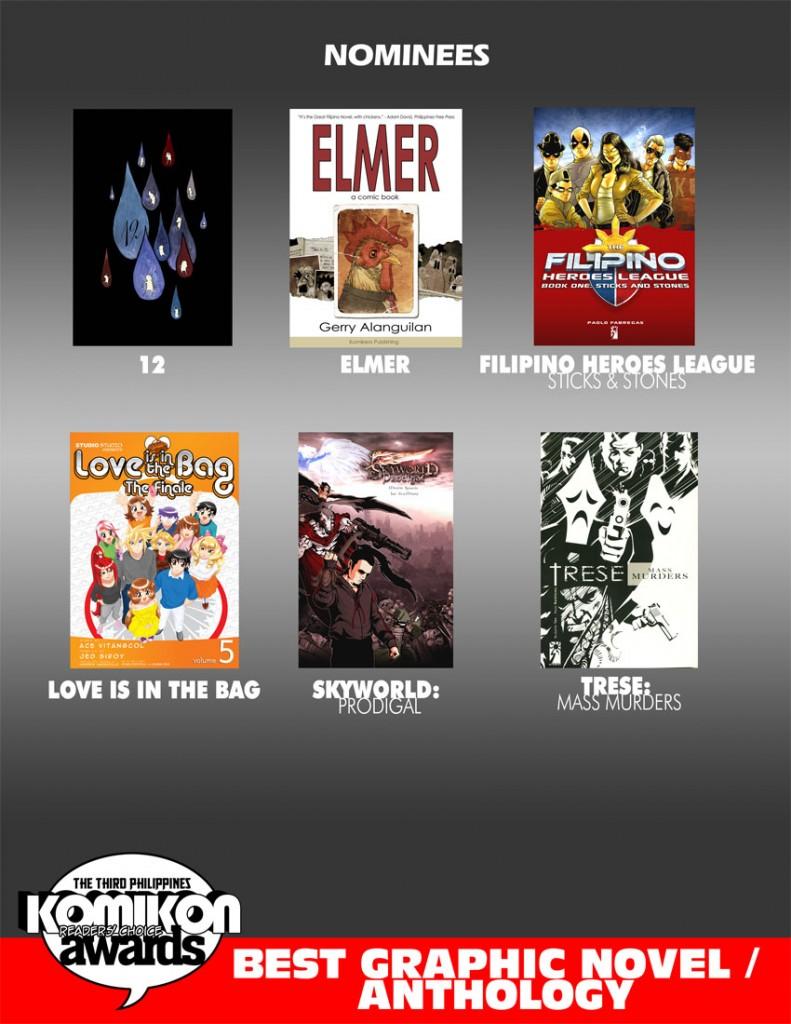 2011 BEST COMIC: Graphic Novel /Anthology Nominees