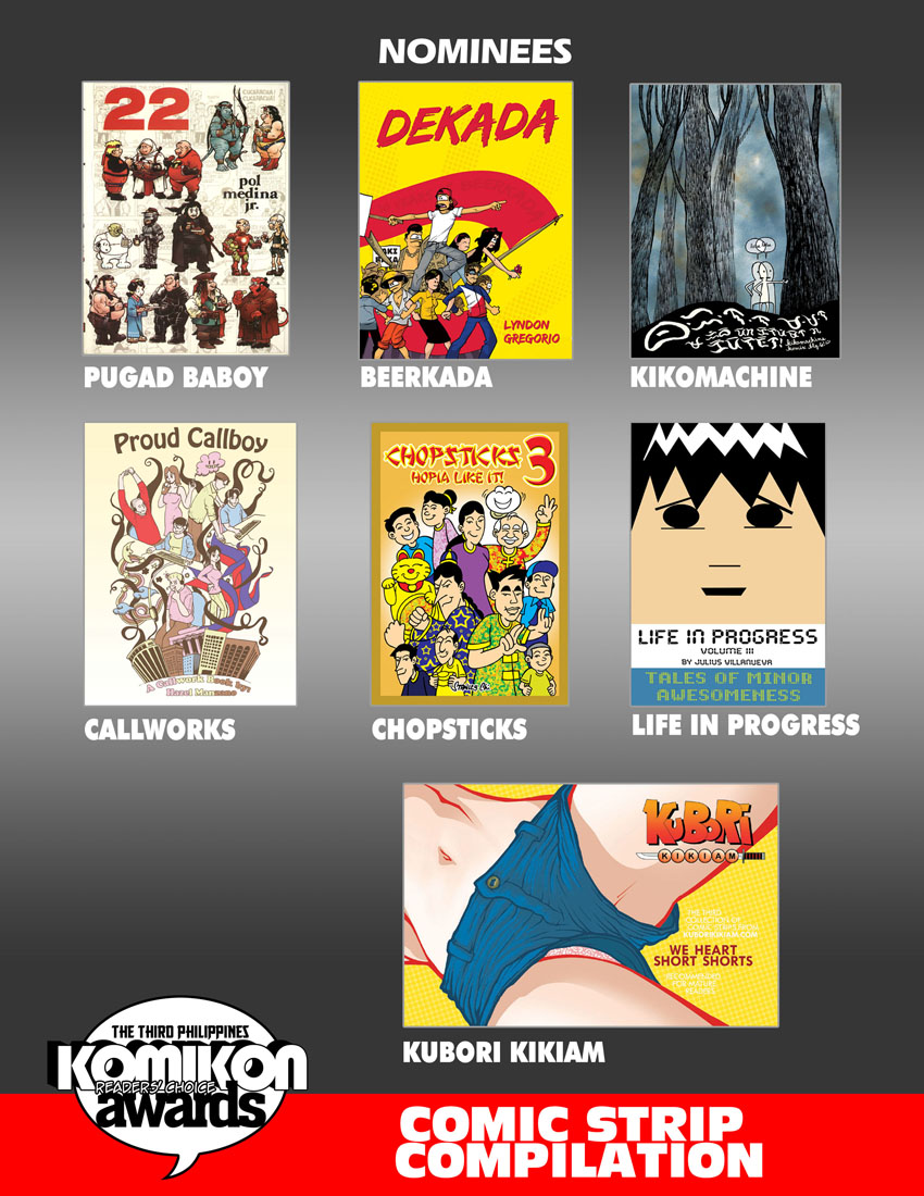 2011 BEST COMIC: Comic Strip Compilation Nominees