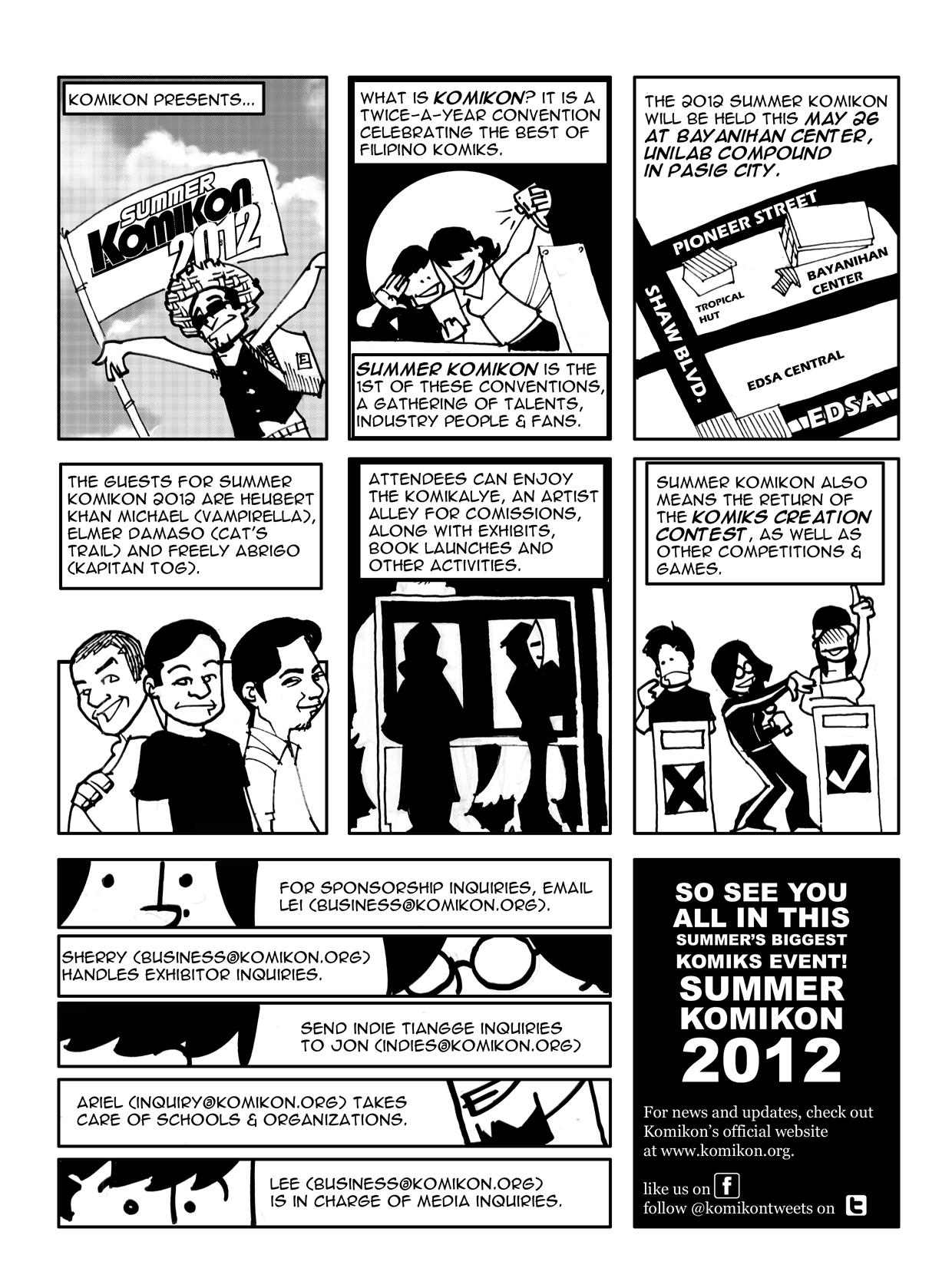 Summer Komikon 2012 Sponsorship