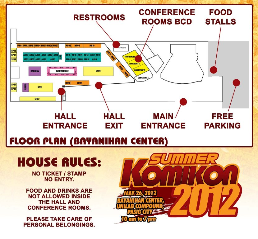 Summer Komikon 2012 Floorplan