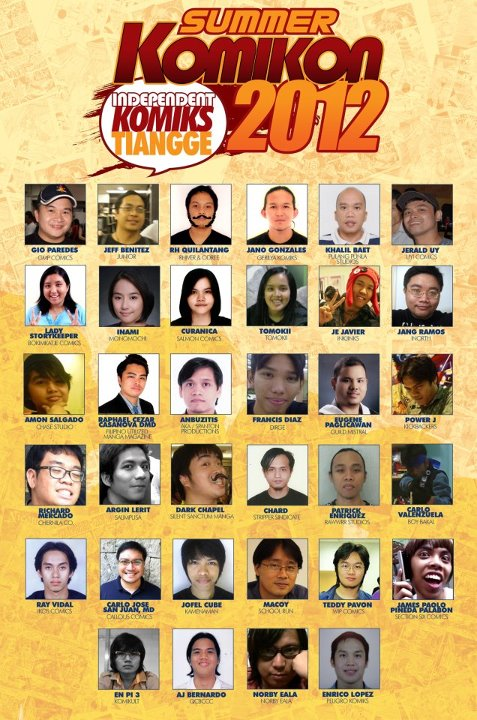 Indie Tiangge Participants Summer Komikon 2012