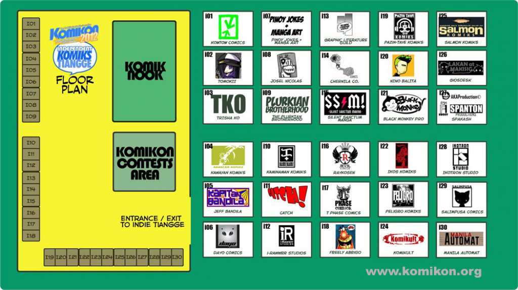 Komikon 2012 - Conference Room BCD Floorplan