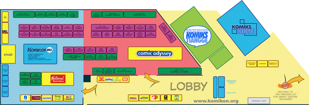 Komikon 2012 Full Floorplan