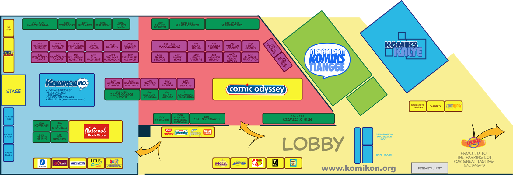 Komikon 2012 Floorplan and Directory