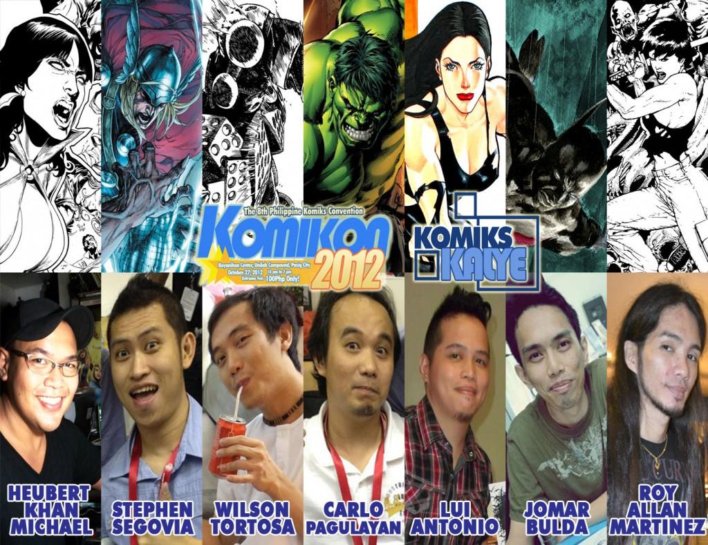Komiks Kalye Artist Line Up