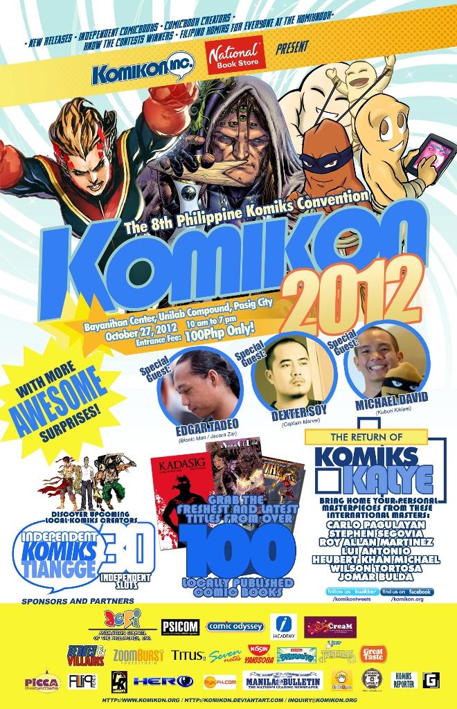 Official Komikon 2012 Poster