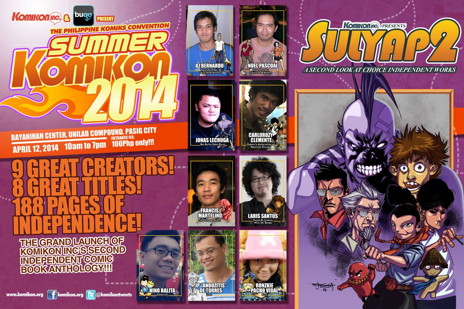 Sulyap 2 at Summer Komikon 2014