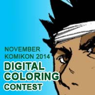 Digital Coloring Contest Komikon 2014