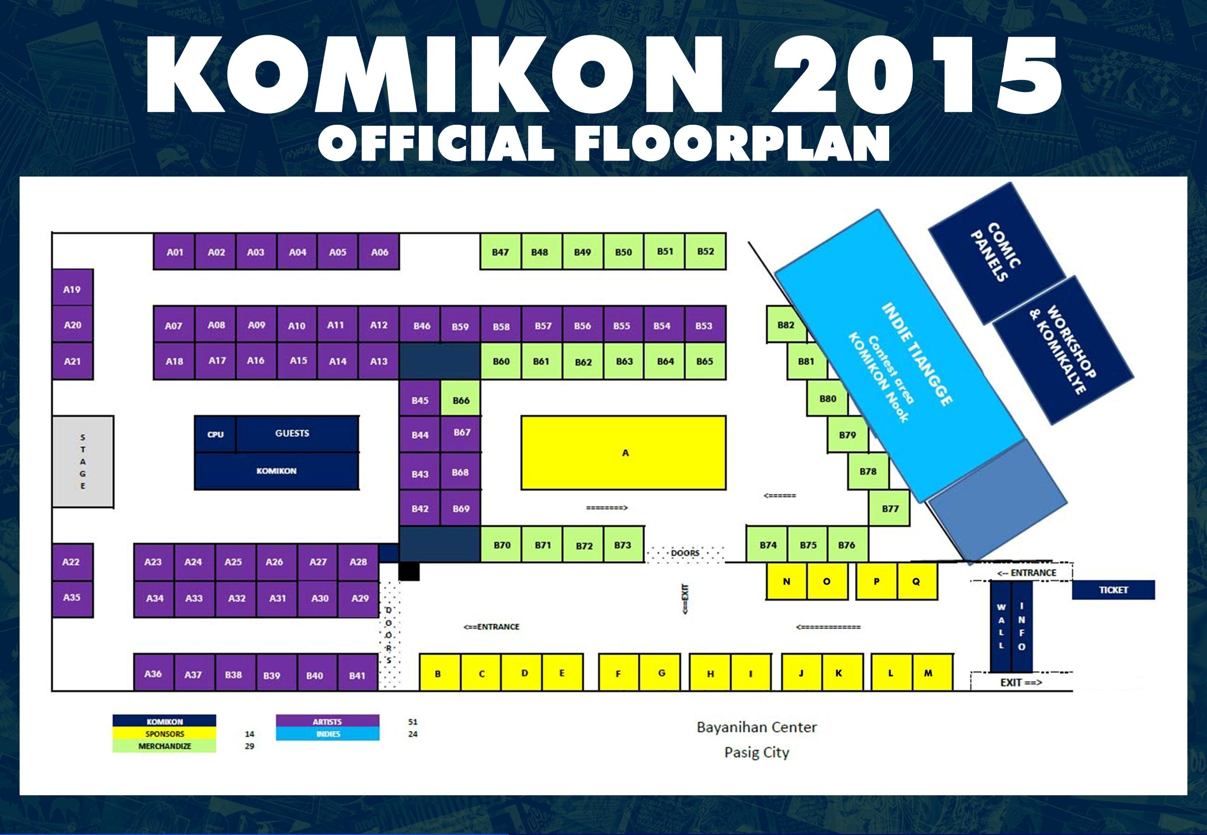 Komikon 2015 Floorplan