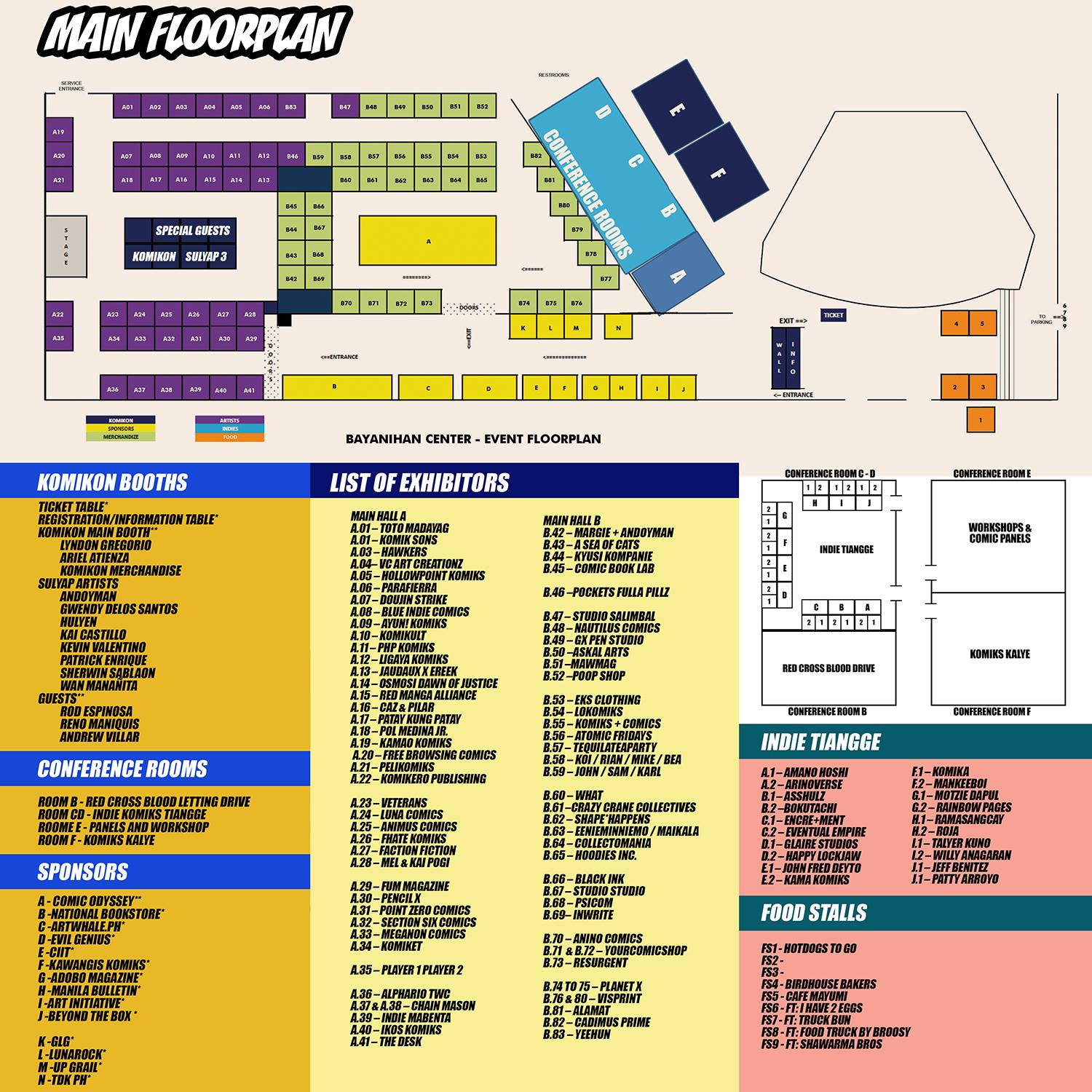 Summer Komikon 2016 Floor Plan
